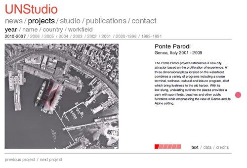 Beispiel für eine Projektdarstellung auf unstudio.com