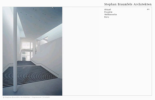 Die Startseite von braunfels-architekten.de