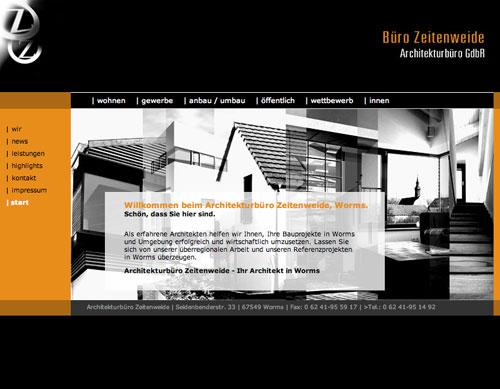 Startseite der Website zeitenweide.de