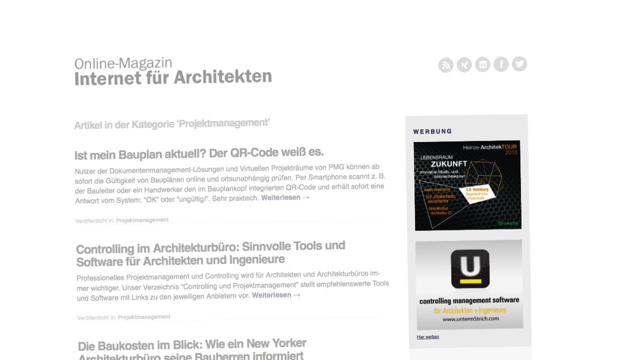 werbung auf internet f r architekten werben im architektur blog. Black Bedroom Furniture Sets. Home Design Ideas