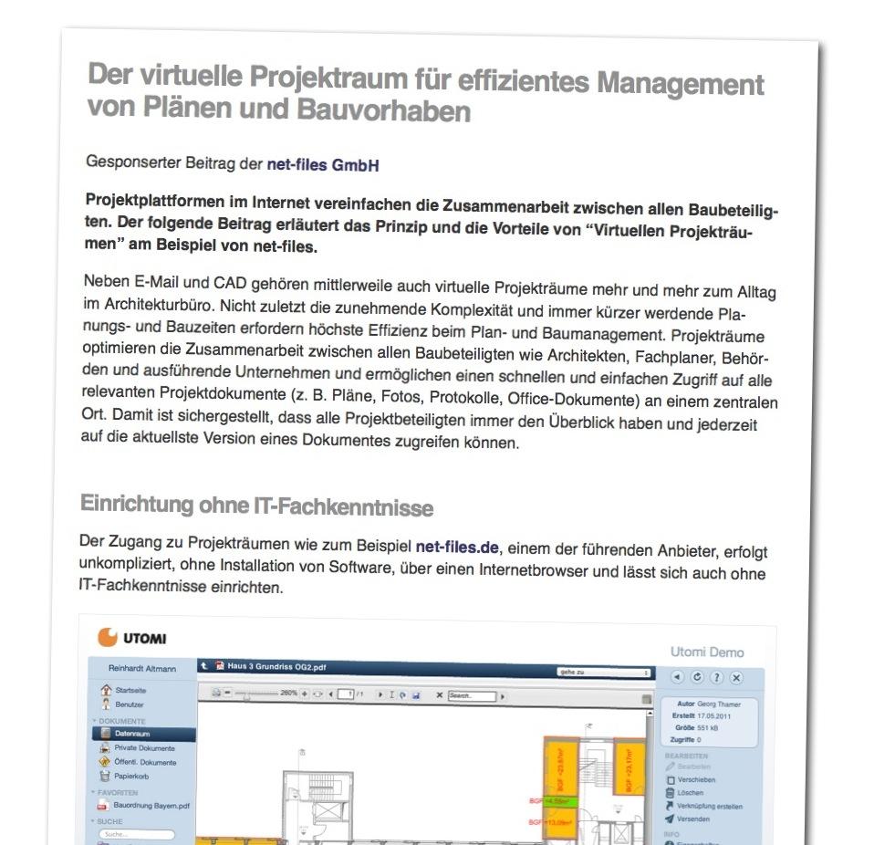 Beispiel: Gesponserter Beitrag (net-files GmbH)
