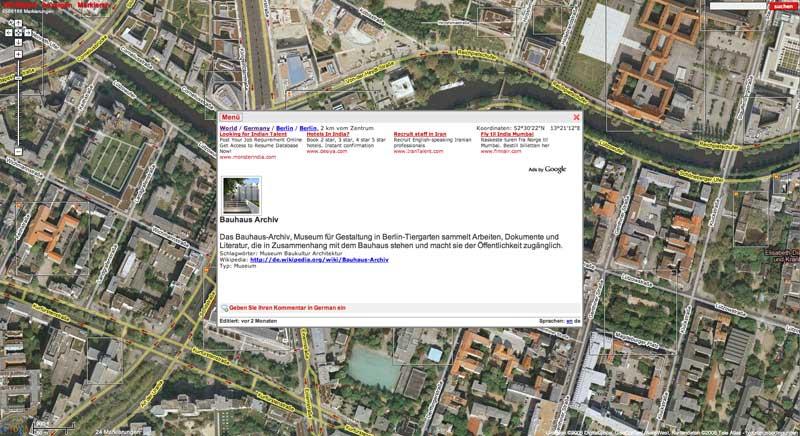 Das Bauhaus-Archiv in Berlin auf Wikimapia.org
