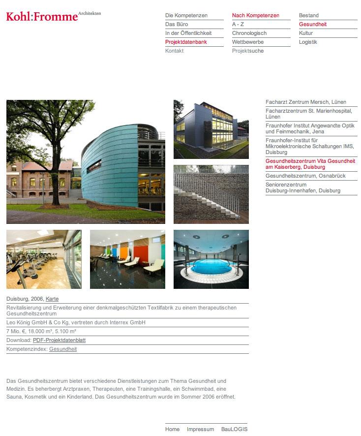 Projektpräsentation von Kohl:Fromme Architekten