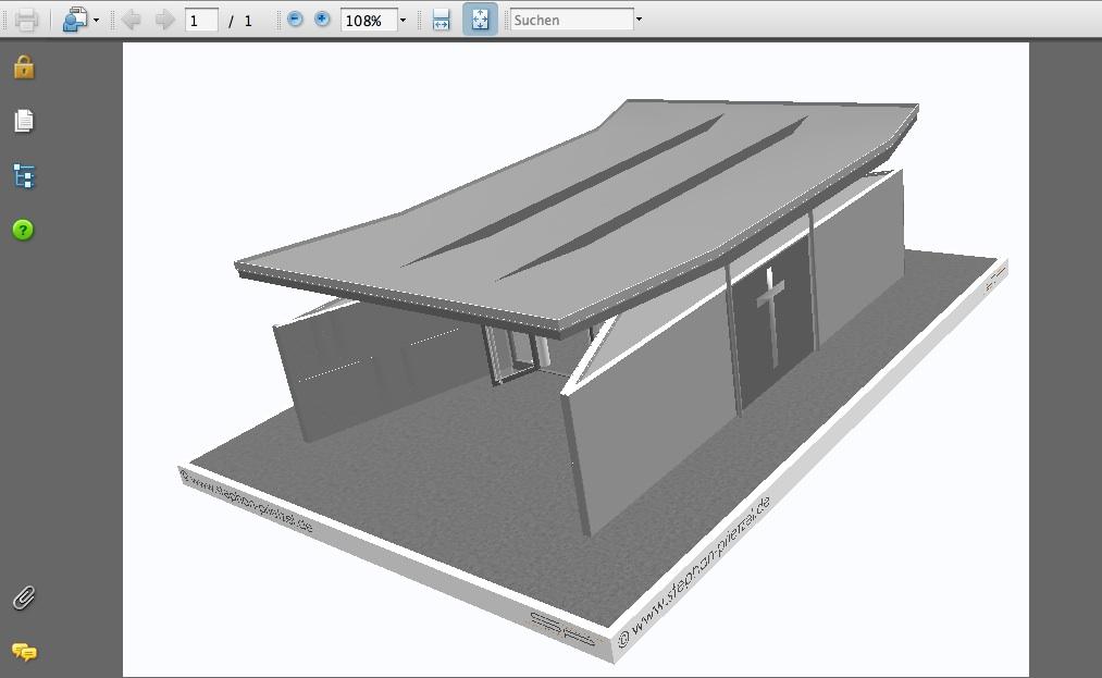 Screenshot: Ein 3D-PDF-Modell von Stephan Prietzel, München