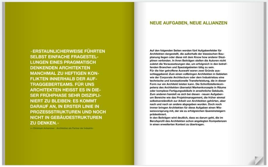 """Ausschnitt aus dem Buch """"DER NEUE ARCHITEKT"""""""
