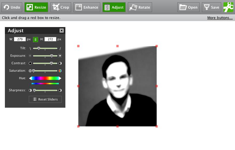Screenshot: Erweiterete Funktionen hat snipshot.com