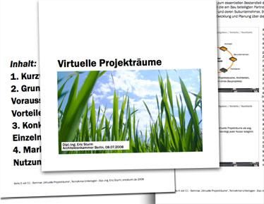 "Teilnehmer-Unterlagen des Seminars ""Virtuelle Projekträume"""