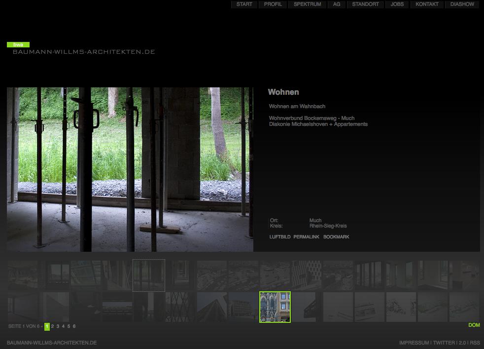 Screenshot von baumann-willms-architekten.de