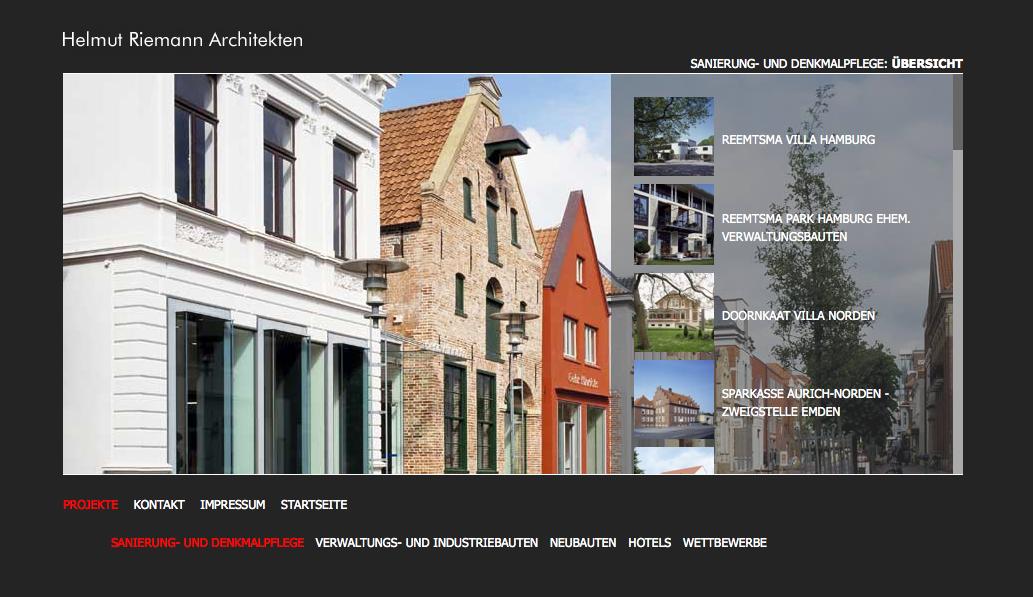 Architekten In Lübeck architekten websites im kurz portrait helmut riemann architekten