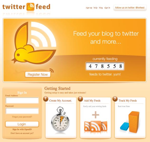 Automatisiert twittern mit Twitterfeed