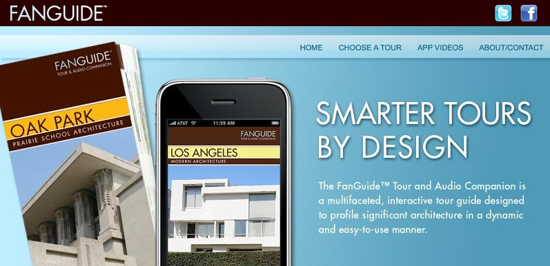 Ein Architekturführer auf dem iPhone (Screenshot von fanguidetours.com)