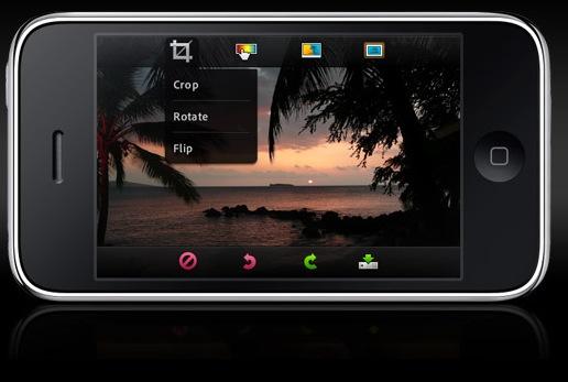 Screenshot: Die 'Photoshop Mobile App' von Adobe