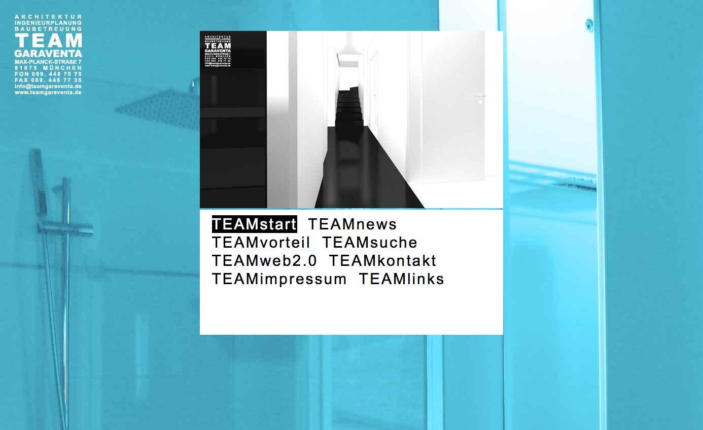 Die Startseite – Screenshot von www.teamgaraventa.de