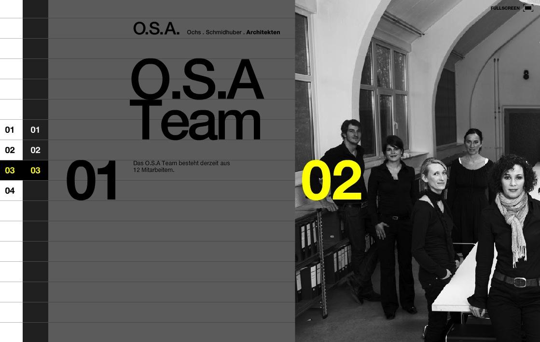 Screenshot der Website von Ochs Schmidthuber Architekten, München