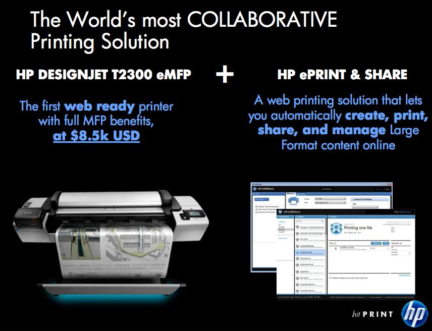 Aus der Produktvorstellung zu HPs ePrint & Share