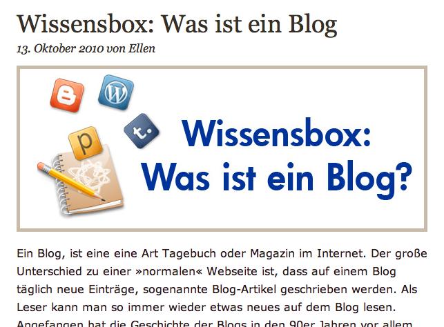 Screenshot von gertis-pc-tipps.de: Was ist ein Blog?