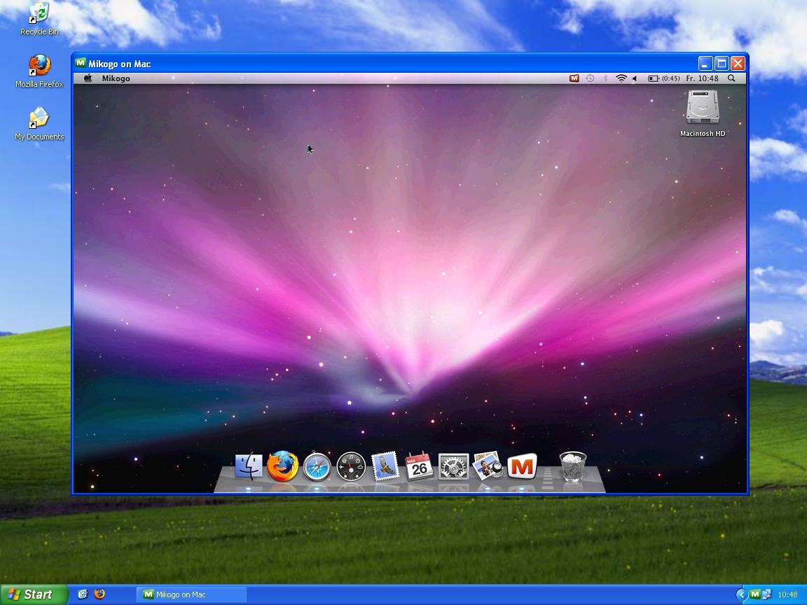 Screenshot: Zugriff auf einen fremden Rechner (Screen Sharing) mit Mikogo
