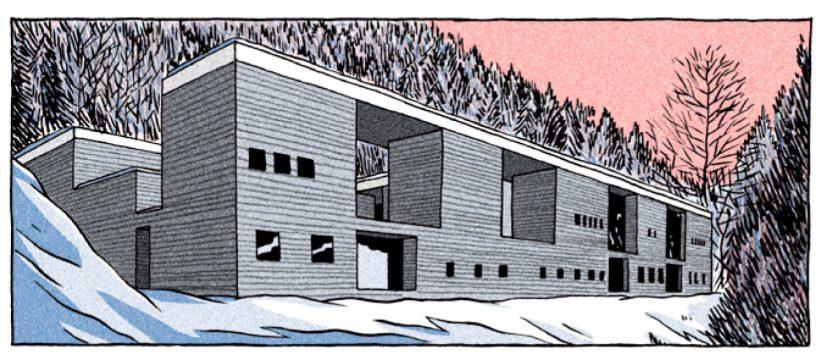 """Therme Vals (Abbildung aus """"Der Magnet"""" von Lucas Harari, Edition Moderne"""
