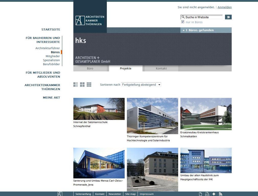 Profil des Büros HKS Architekten auf architekten-thueringen.de