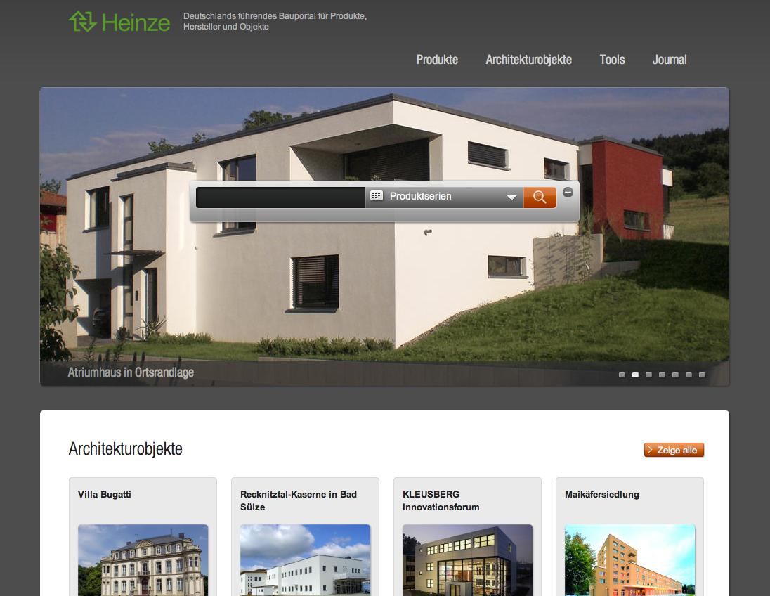 Screenshot: Werbebanner für die Neugestaltung von heinze.de