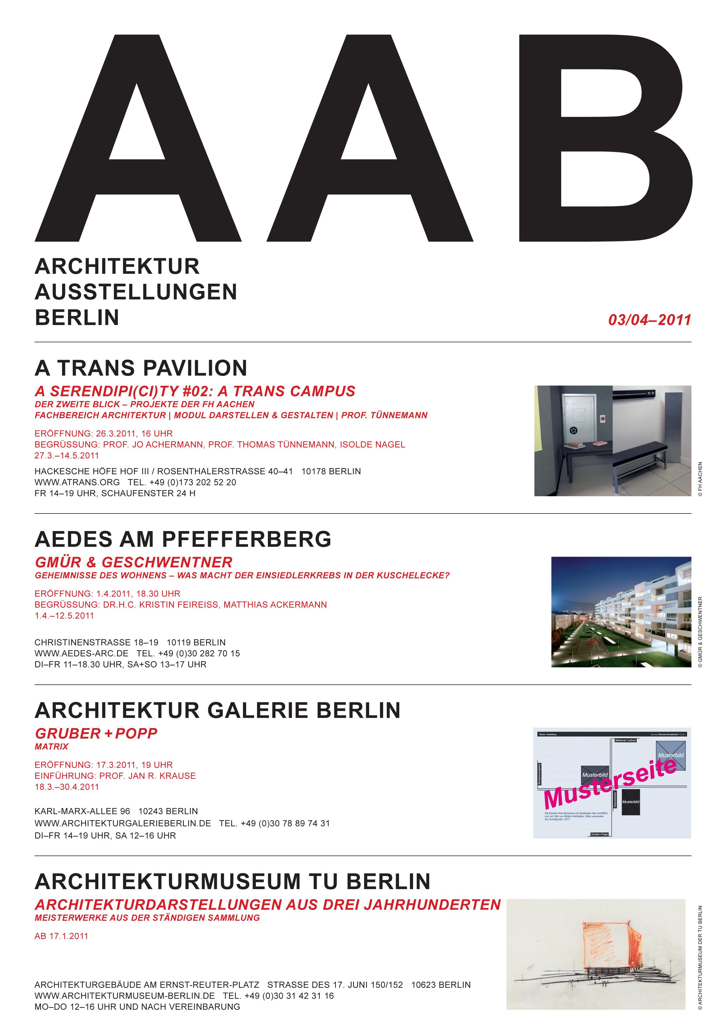 Architektur Ausstellungen Berlin von Ulrich Müller (Teil 1 von Ausgabe 03/04-2011)