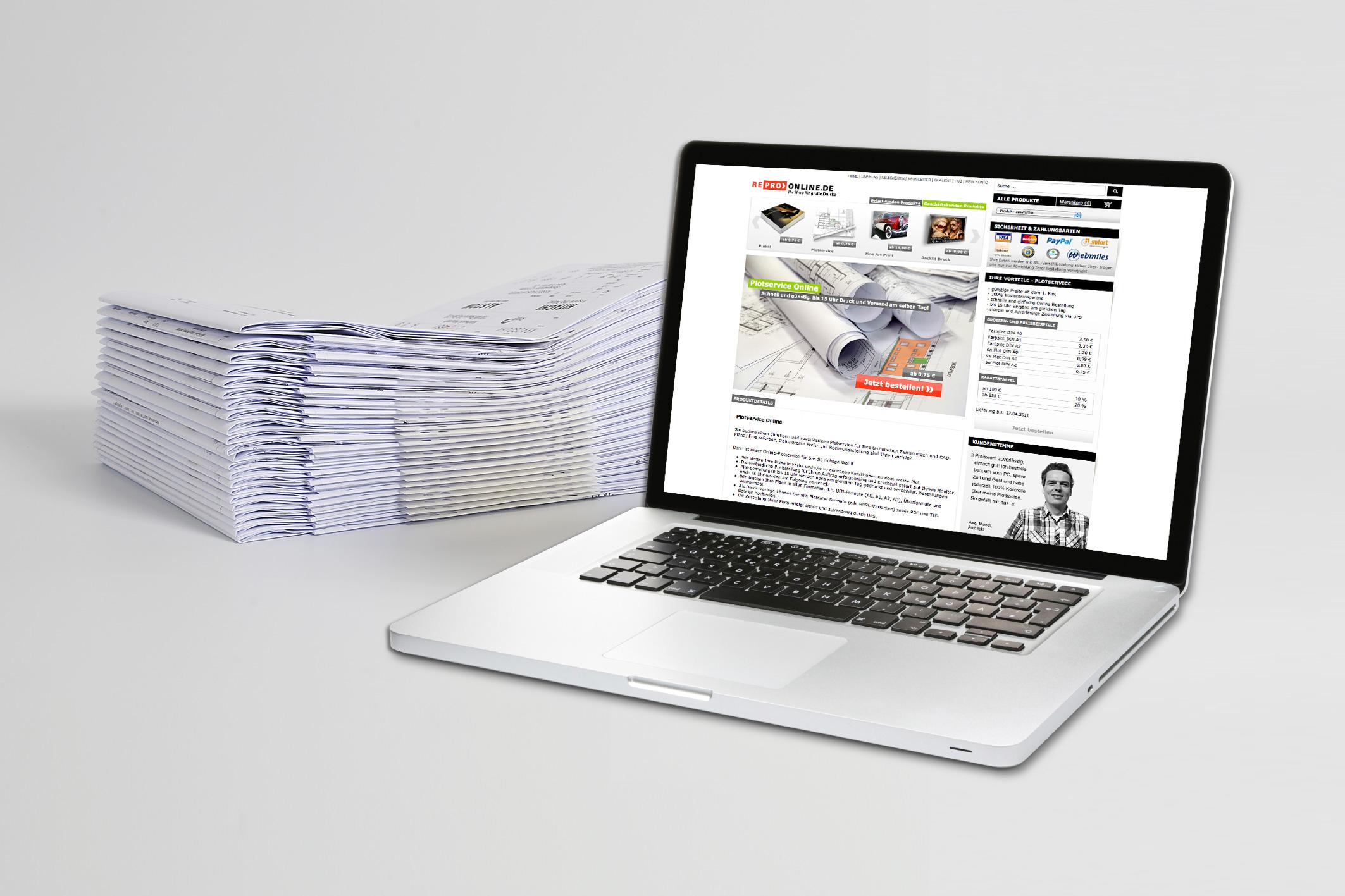 Neuer Service von Repro Online: Plot-Aufträge über das Internet abwickeln