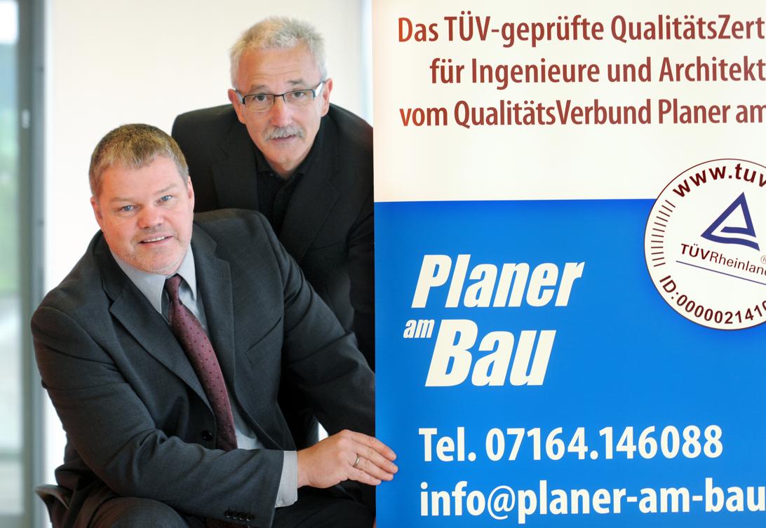 Die Initiatoren des QualitätsVerbunds Planer am Bau: Dr.-Ing. Dipl.-Wirtsch.-Ing. E. Rüdiger Weng und Dr.-Ing. Knut Marhold