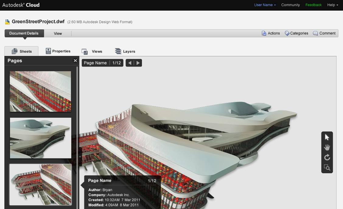 Ein 3D-Modell in der Autodesk Cloud (Abb.: Autodesk)