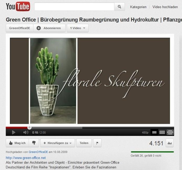Screenshot: Das Image-Video von Green Office auf Youtube (Bild: KWP)