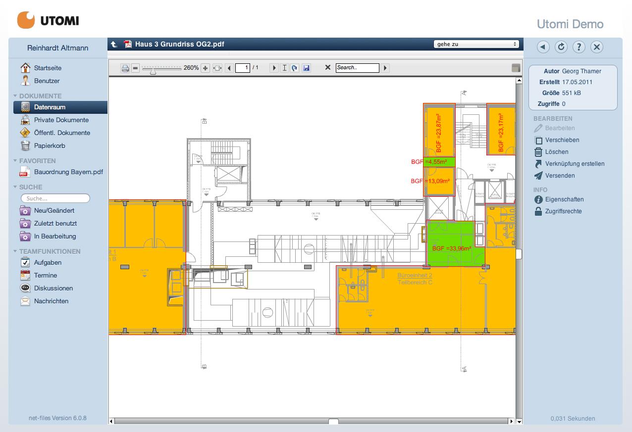 Screenshot: Vorschau eines Grundrisses auf net-files.de