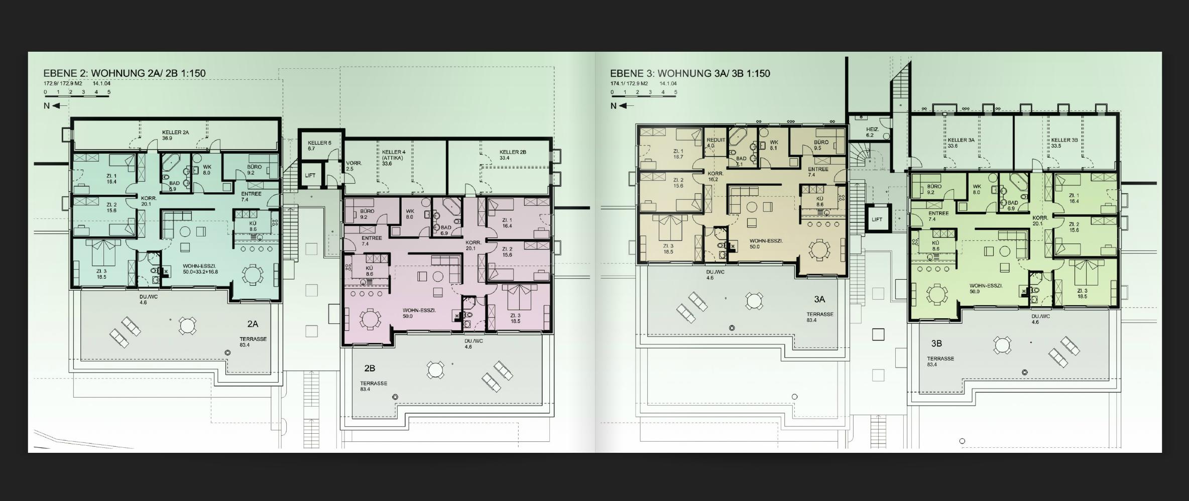 Screenshot: Die im Artikel besprochene (Online-)Projektbroschüre von Weidmann Architekten auf Issuu.com