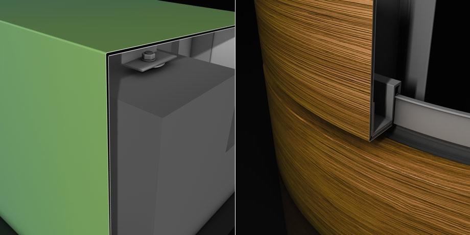 Simulation von Fassaden- bzw. Attika-Details mit der ALUCOBOND design-App