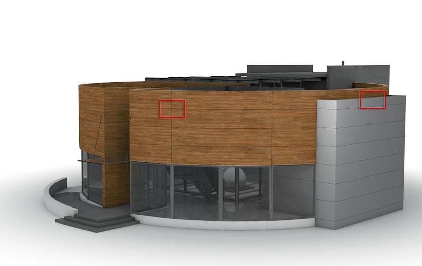 Die ALUCOBOND design-App simuliert verschiedene Ideen für die Fassadengestaltung.