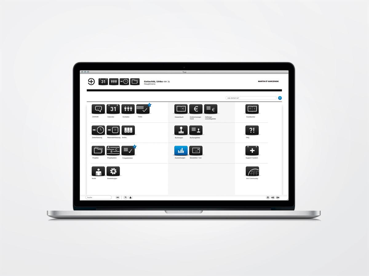 Die webbasierte Software kann im Browser oder per App genutzt werden.