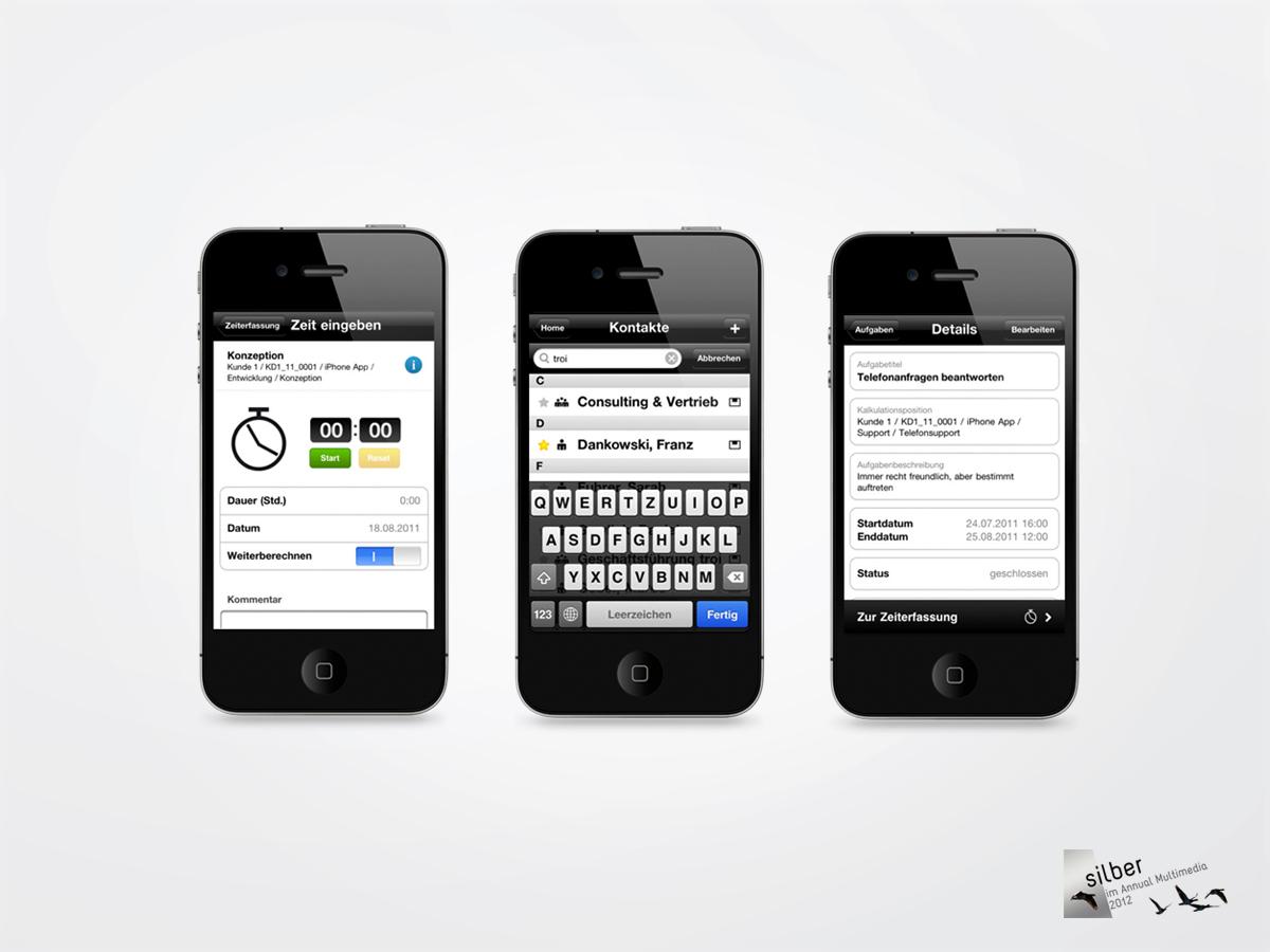 troi 5.0, die Projektsoftware für Architekten – hier auf dem iPhone