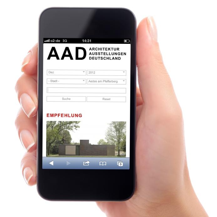 """Sehr nützlich für unterwegs: Die Darstellung der Website """"AAD"""" im Smartphone"""