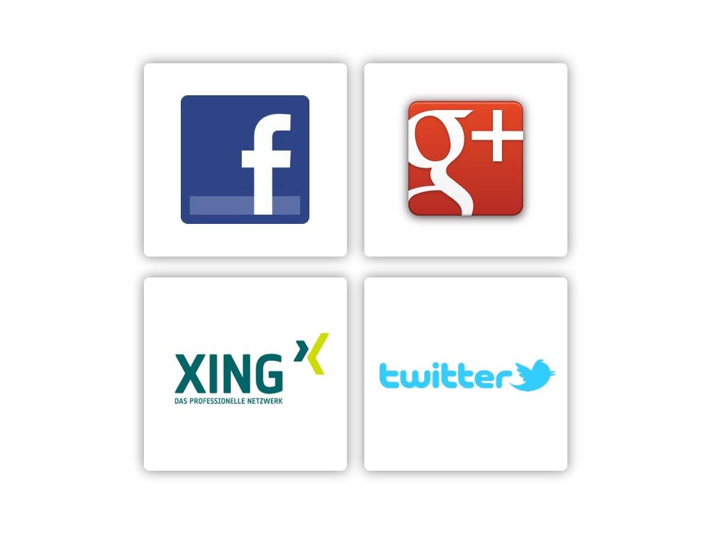 Social Media-Angebote für Architekten (Ausschnitt aus der Seminar-Präsentation)