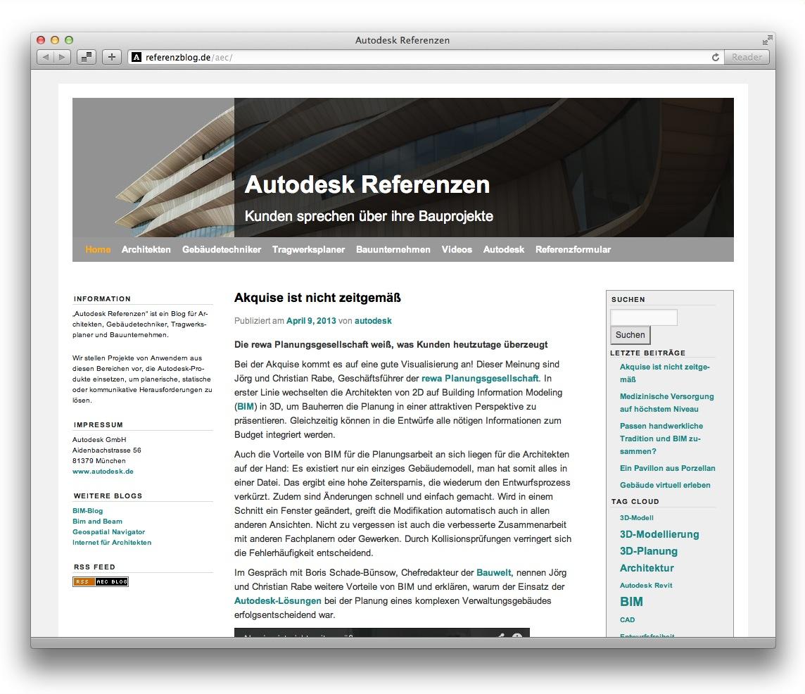 cad blog autodesk referenzen internet f r architekten. Black Bedroom Furniture Sets. Home Design Ideas
