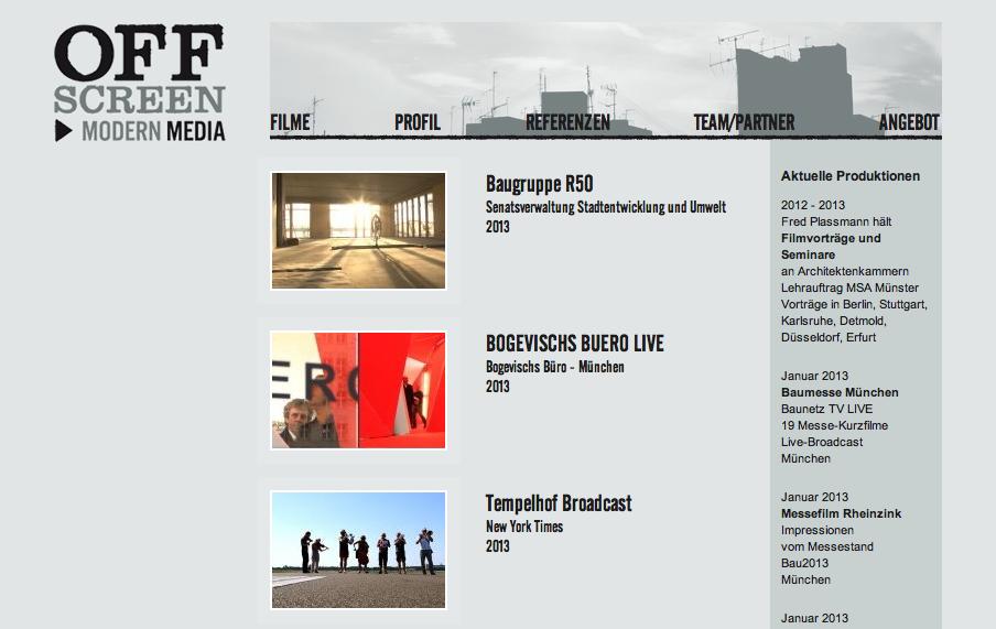 Screenshot offscreen.de; Mai 2013