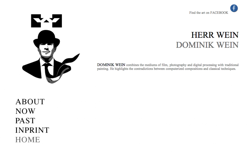 Screenshot der Website dominikwein.de (Mai 2013)