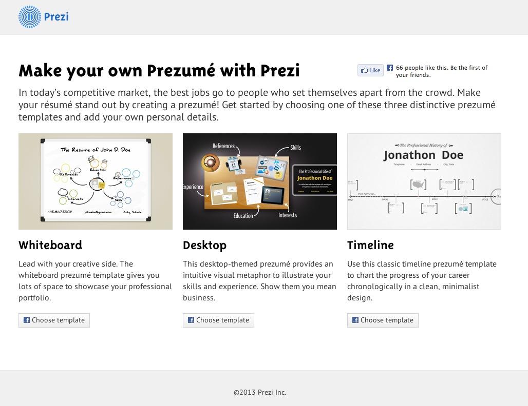 Der Lebenslauf-Generator von Prezi – Internet für Architekten