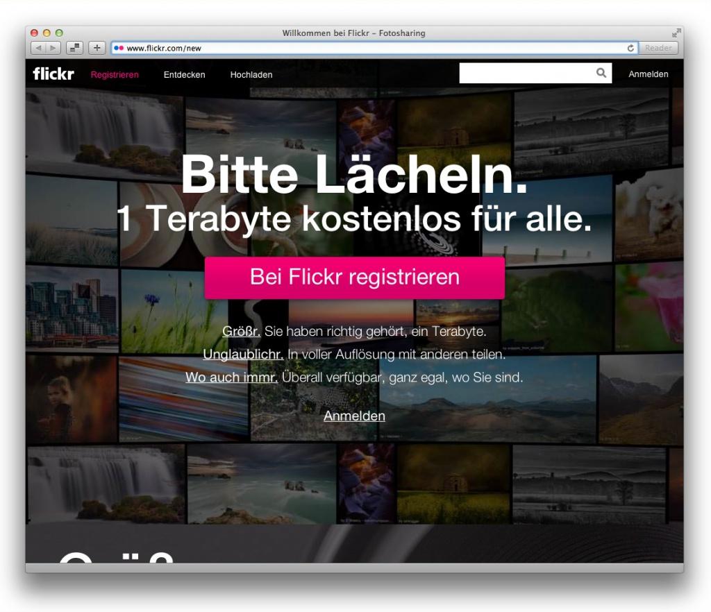 Ab sofort gibt es auf Flickr 1 Terabyte Speicherplatz für jeden.