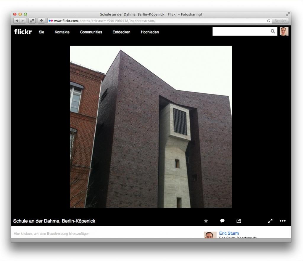 Flickr eignet sich sehr gut für die Präsentation von Architekturprojekten