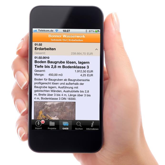 iGAEB-Viewer von Gripsware auf dem Smartphone