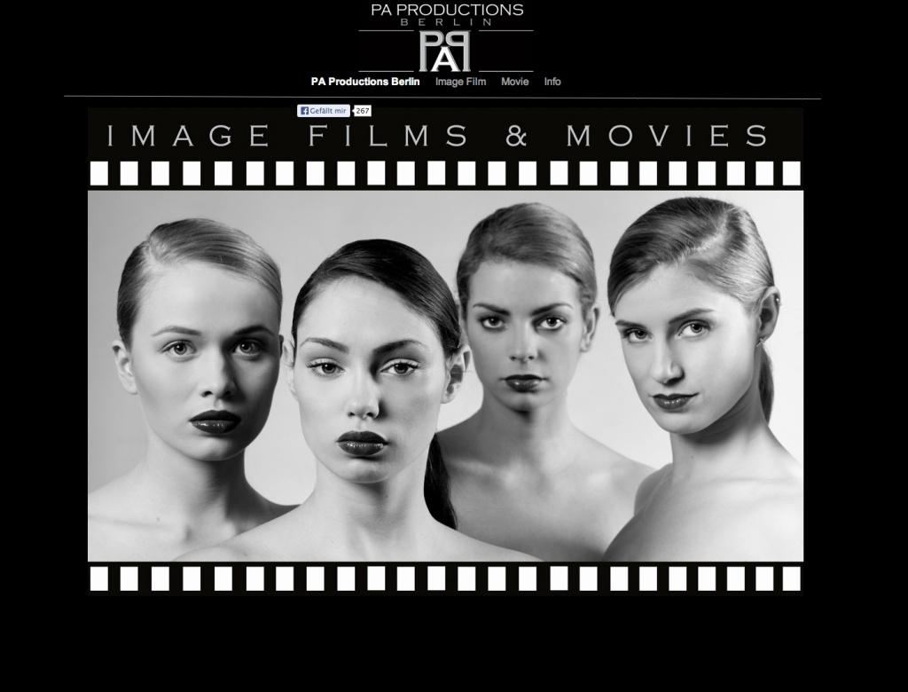 PA Productions, Berlin (Screenshot Website, Juli 2013)