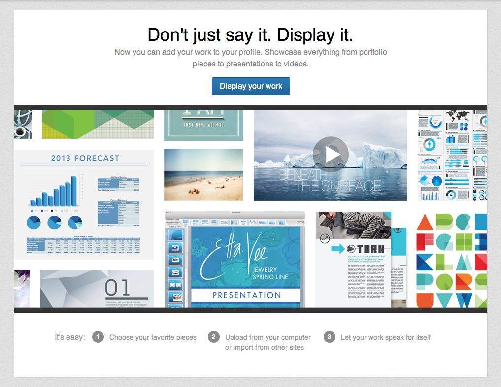 Screenshot: Das Business-Netzwerk LinkedIn ermöglicht jetzt das Hochladen von Dateien