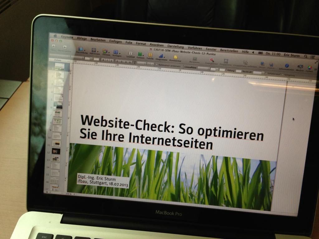 """Seminar """"Website-Check: Optimieren Sie Ihre Internetseiten"""""""