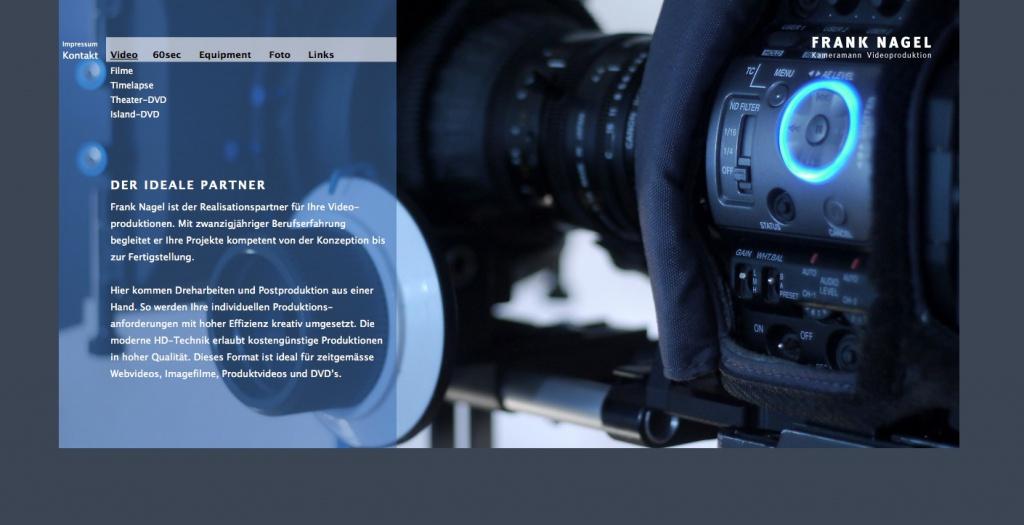 Frank Nagel, Kameramann / Videoproduktion (Berlin)