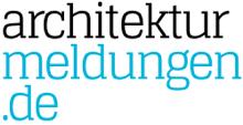Das neue Logo von architekturmeldungen.de in Blau und Schwarz