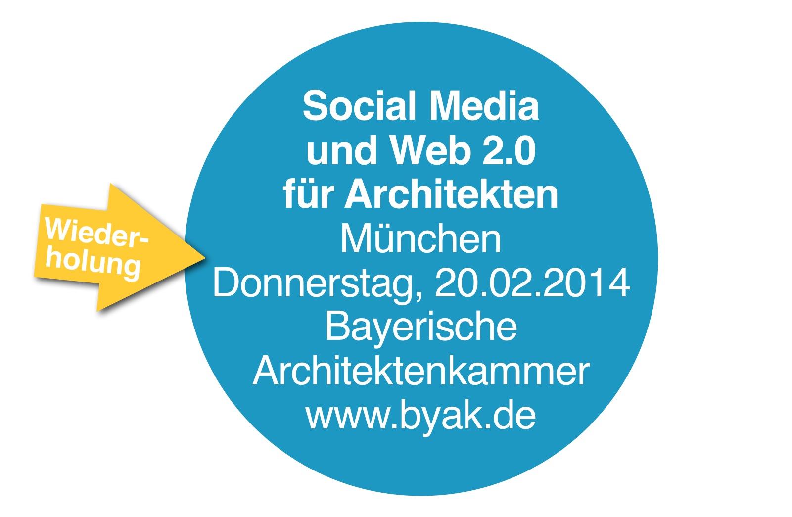 social media seminar in m nchen am internet f r architekten. Black Bedroom Furniture Sets. Home Design Ideas